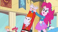 Pinkie Pie hands wave up