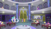 Sunset and Twilight in the Canterlot Library EGFF