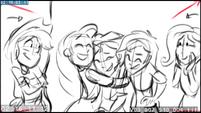 EG3 animatic - Rarity hugging Sunset