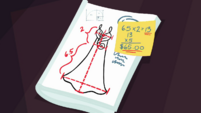 Equations and measurements in Rarity's sketchbook EGDS6
