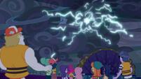 Magic lightning surging powerfully EGSB