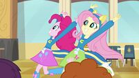 Pinkie Pie and Fluttershy running