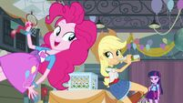 Applejack Pinkie and Twilight in the gym