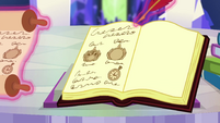 Scroll writing magically pasted in journal EGSBP