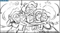 EG3 animatic - Main six group hug