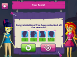"""MLPEG app archery mini-game """"Congratulations! You have unlocked all the rewards!"""""""