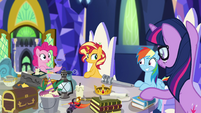 Pinkie Pie greeting human Rainbow EGSB
