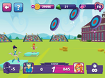 MLPEG app archery mini-game round 1
