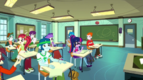 Canterlot High students in a classroom SS8