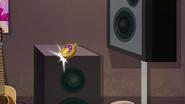 Time Twirler bounces off a speaker EGSBP