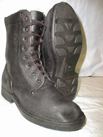 A pair of Soviet experimental boots, note the unique sole pattern[1]