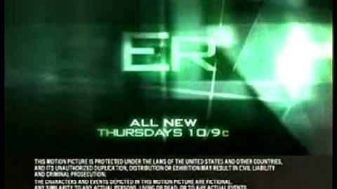 2006 PROMOS ER, JOHN STAMOS, FOREST WHITAKER, MY NAME IS EARL, JENNY MCCARTHY