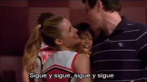Glee Don't Stop Believin (Finn and Quinn)