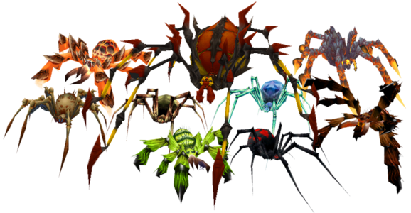Especies de arañas en World of Warcraft