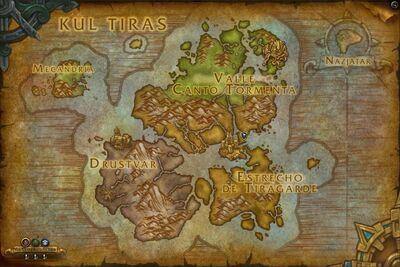 Mapa de Kul Tiras