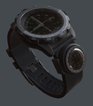 Armband watch with compass