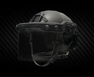 Ops-Core Fast MT SUPER HIGH CUT Helmet with ballistic face shield (closed)