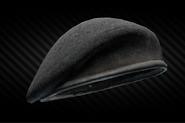 Black beret back