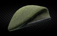 Olive beret back