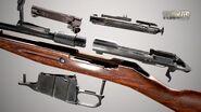 Mosin bolt-action sniper rifle - parts