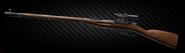 Mosin bolt-action sniper rifle - PU scope left