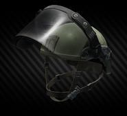 LZSh light helmet with ballistic face shield (open)