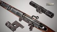 Mosin bolt-action sniper rifle closeup