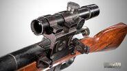 Mosin bolt-action sniper rifle - closeup (1)