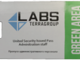 Lab. Green keycard