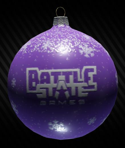 Christmas tree decoration ball (violet)