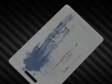 Key card with a blue marking