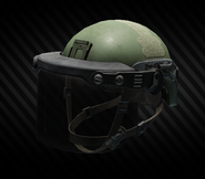 LZSh light helmet with ballistic face shield (closed)