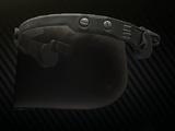 Multi-hit ballistic face shield-visor for Ops-Core FAST helmet