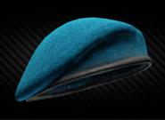 Blue beret back