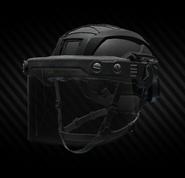 MSA Gallet TC 800 High Cut combat helmet with ballistic face shield (closed)