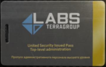 Lab. Black keycard