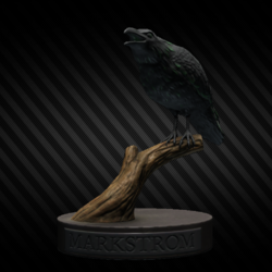Figurine de corbeau