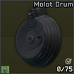 Molot magazine for AK and compatibles, 75-round capacity icon.png