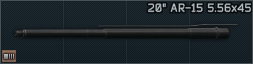 20 barrel for AR 15 and compatible 5.56x45 Icon.png