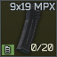 Standard MPX 20-round 9x19 magazine icon.png