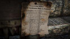 Mensaje de la muerte de Merle Abrahams