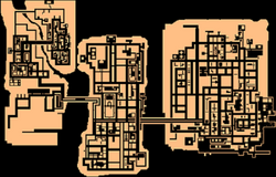 El mapa de GTA A.