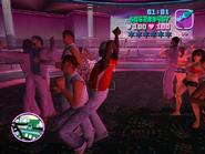 Cubanos bailando en el club malibu