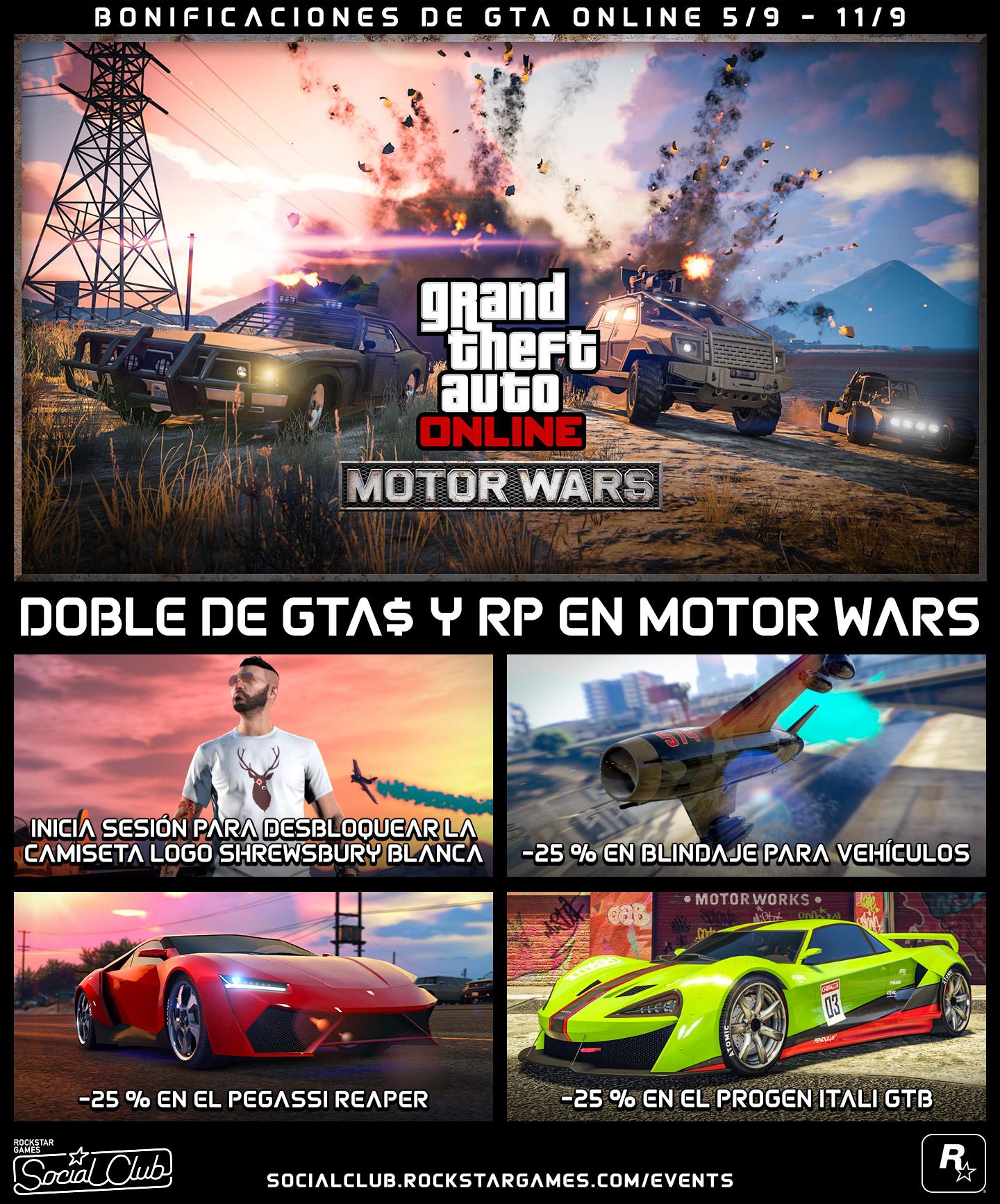 Bonificaciones de GTA Online (Septiembre 2017)
