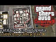 Estragos en Autopista (Carreras Callejeras) - GTA Chinatown Wars PSP (Español-Sin Comentario)