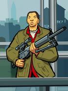 Artwork Huang y rifle francotirador