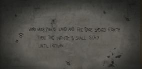 Mensaje dejado por el en la carcel