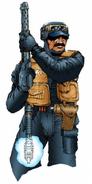 Artwork de un miembro del SWAT de Anywhere City