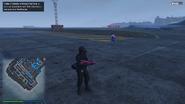 Jugador online con un Fusil militar