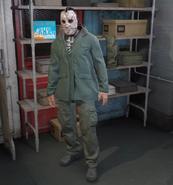 Jugador Online disfrazado de Jason Voorhees